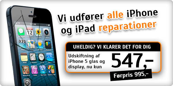 Billig iPhone 5 reparation i højeste kvalitet