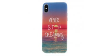 iPhone X TPU-cover - Never stop dreaming