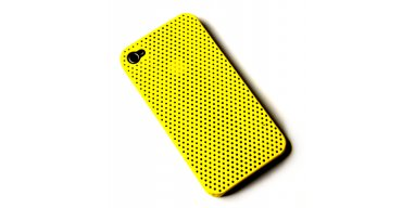 iPhone 4 / 4S cover perforeret gul