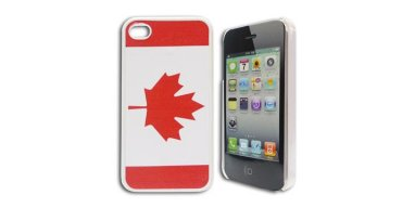 iPhone 4 / 4S cover med canadisk flag /