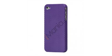 iPhone 4 / 4S cover perforeret lilla