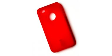 iPhone 4 / 4S cover rødt gummi