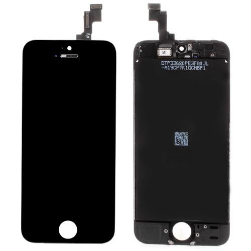 iPhone 5S skærm A+ - LCD, ramme, glas og digitizer sort/hvid