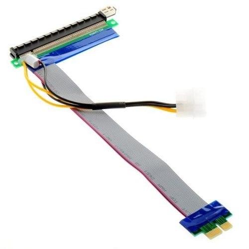 Image of   16x til 1x riser-kabel med kondensator og molex-tilslutning