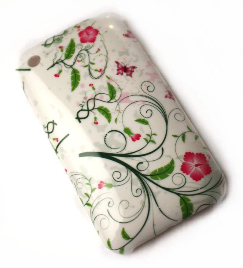 Luxus iPhone 3GS cover hvidt med naturligt tema