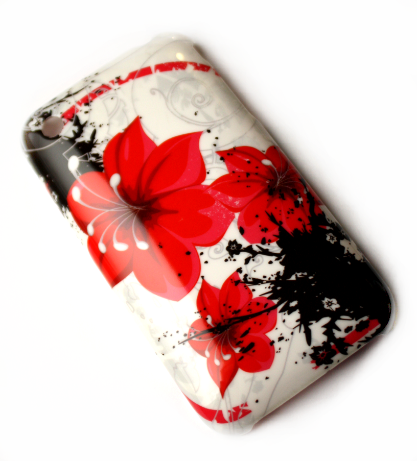 Luxus iPhone 3GS cover med røde blomster