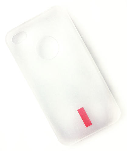 Image of   iPhone 4 / 4S gummi cover hvid