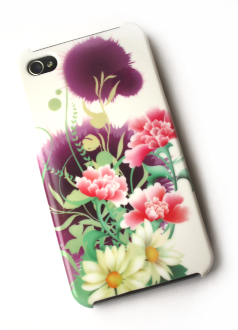 Image of   Lux iPhone 4 cover med blomster