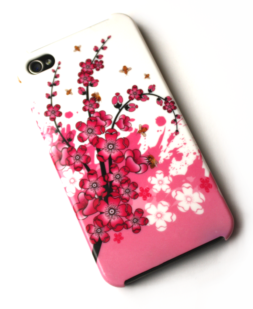 Image of   Lux iPhone 4 cover med japanske kirsebærblomster