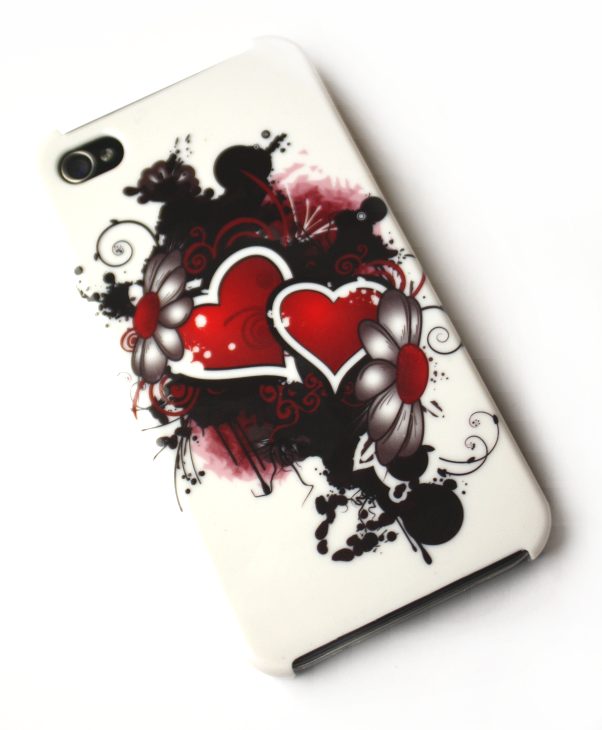 Image of   Lux iPhone 4 cover med hjerter