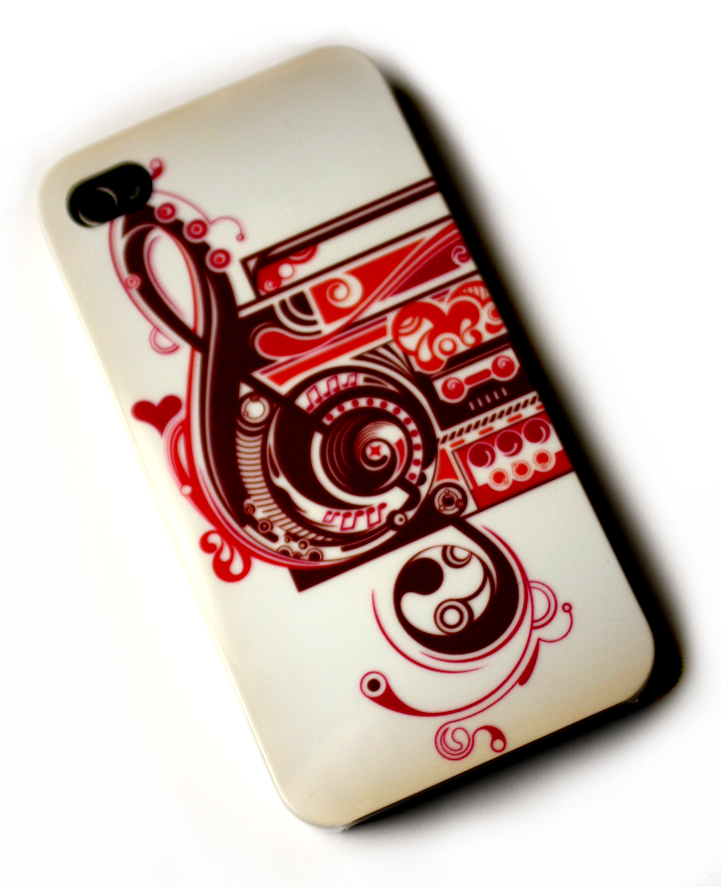 Image of   Lux iPhone 4 cover med musiktema