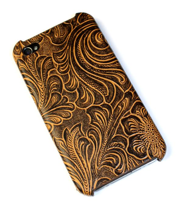 Image of   Lux iPhone 4 cover med udskæringer i rustbrun