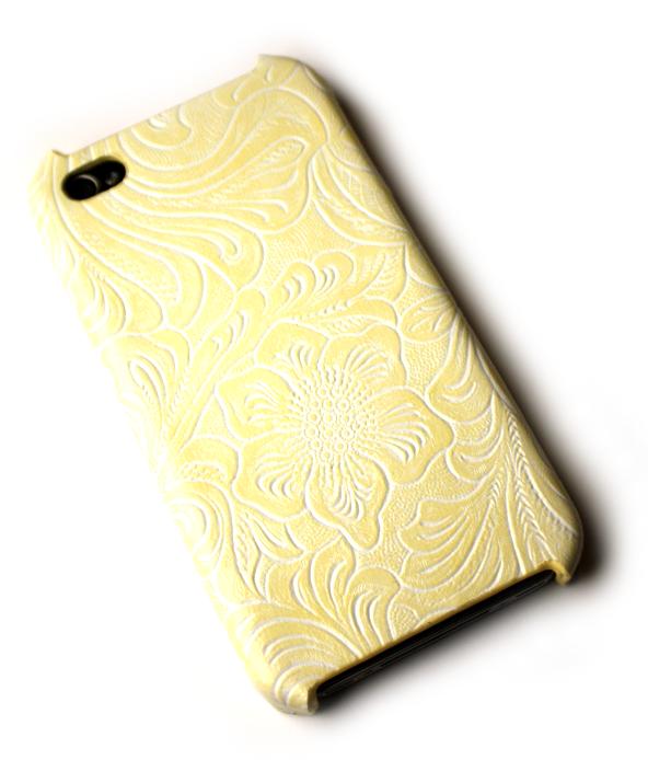 Image of   Lux iPhone 4 cover med udskæringer og cremefarve