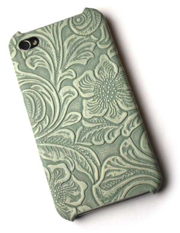 Image of   Lux iPhone 4 cover med udskæringer i kobbergrøn