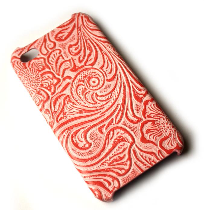 Image of   Lux iPhone 4 cover med udskæringer i lyserød