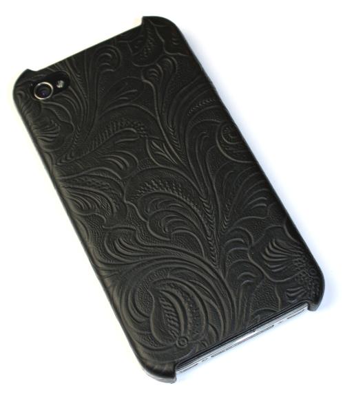 Image of   Lux iPhone 4 cover med udskæringer i sort