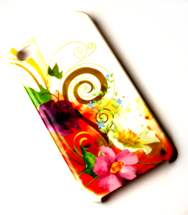 Image of   Lux iPhone 4 cover med vilde blomster