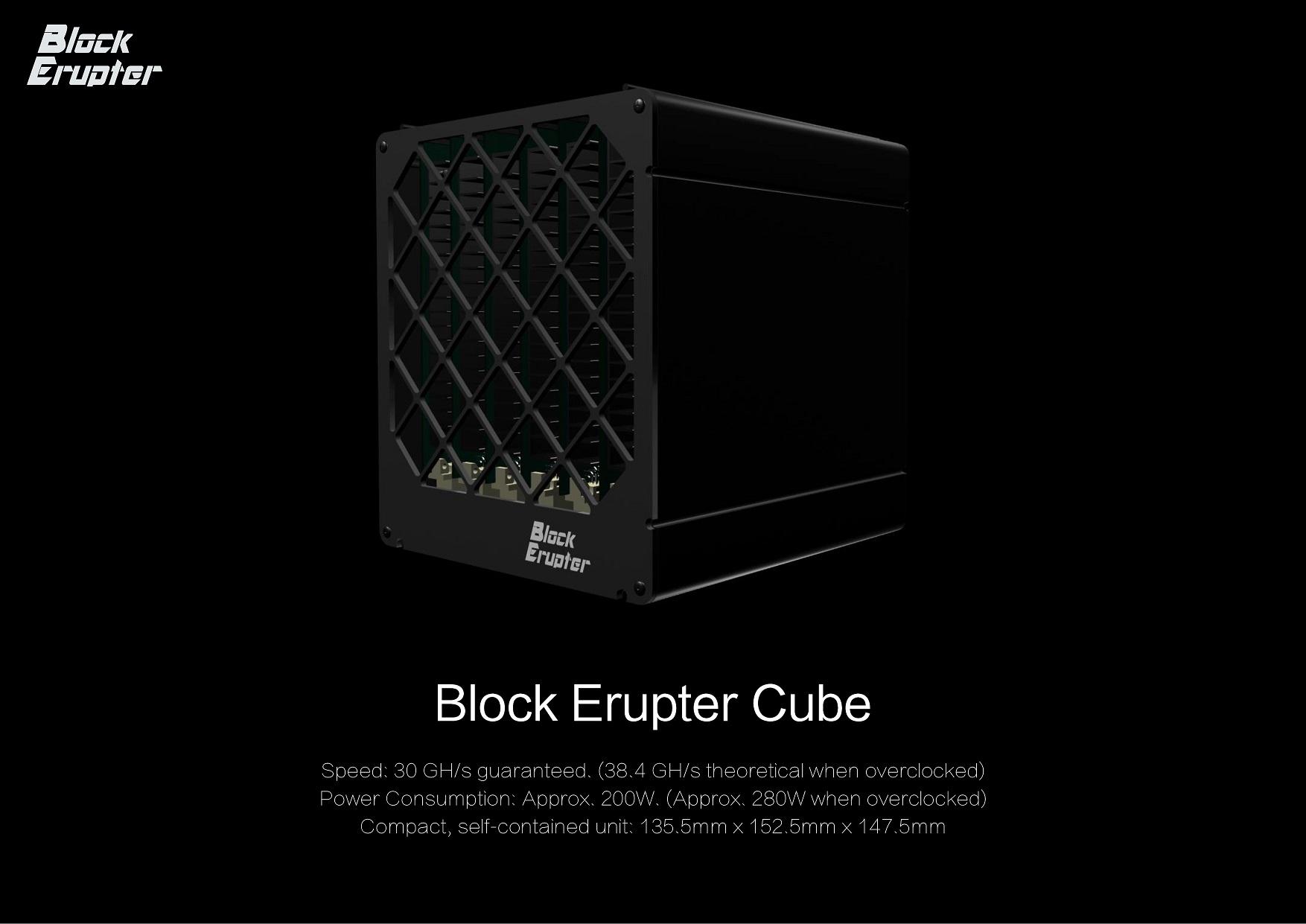 Image of   ASICMiner Block Erupter Cube Bitcoin miner med op til 38Gh/s