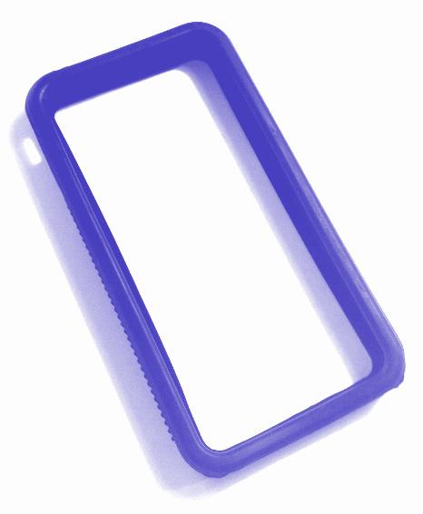 Billede af iPhone 4 bumper blå silikone