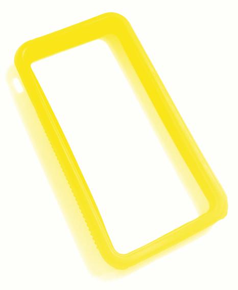 Billede af iPhone 4 bumper gul silikone
