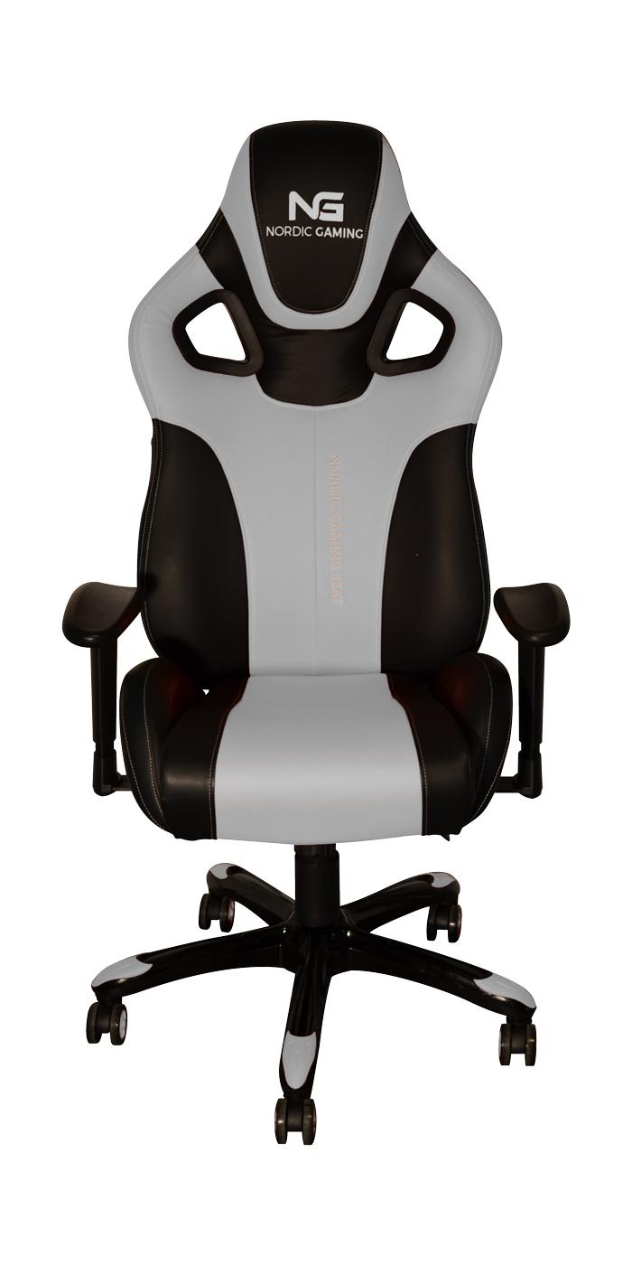 Image of   Nordic Gaming Performance Gamer Stol White Black