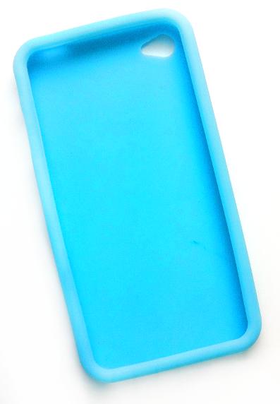 Billede af Silikonecover til iPhone 4, babyblå