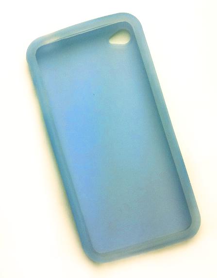 Billede af Silikonecover til iPhone 4, gennemsigtig babyblå