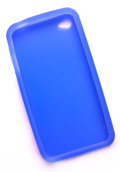 Billede af Silikonecover til iPhone 4, blå