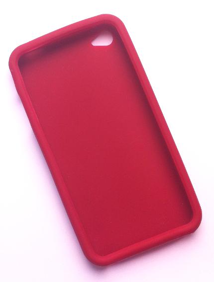 Billede af Silikonecover til iPhone 4, Bourdeaux-rød