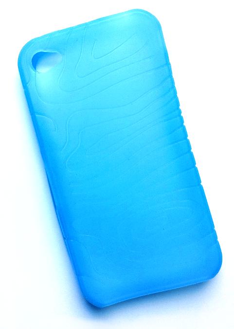 Billede af Silikonecover til iPhone 4 med camouflagemønster, blå
