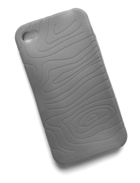 Billede af Silikonecover til iPhone 4 med camouflagemønster, grå