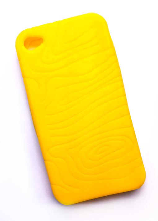 Billede af Silikonecover til iPhone 4 med camouflagemønster, gul
