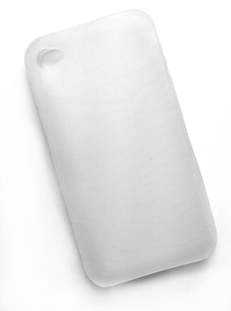 Billede af Silikonecover til iPhone 4 med camouflagemønster, hvid