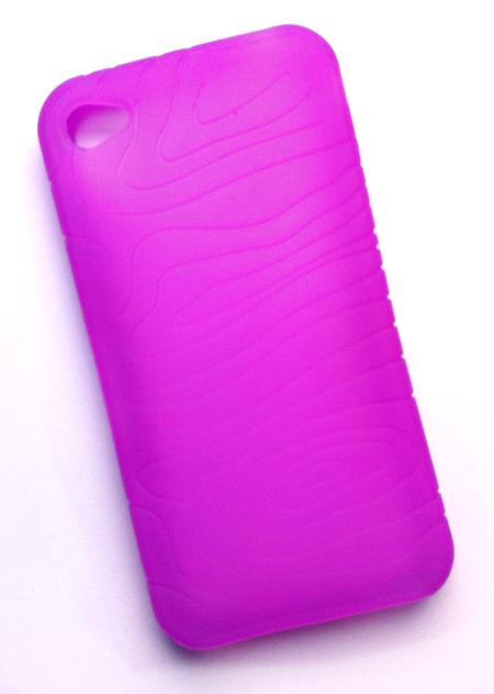 Billede af Silikonecover til iPhone 4 med camouflagemønster, lilla