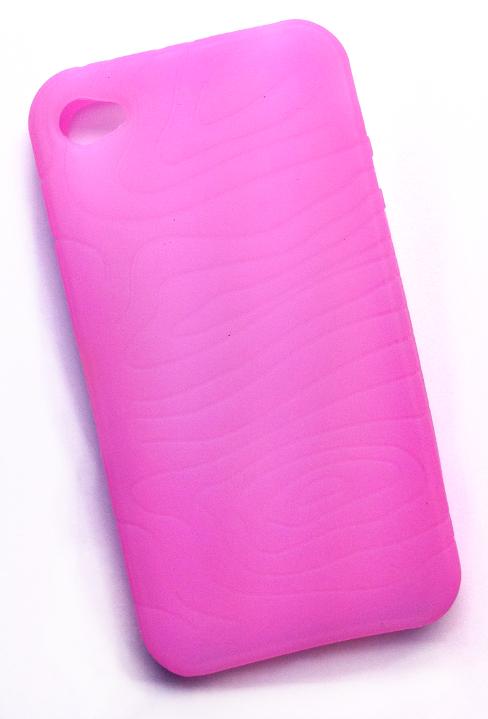 Billede af Silikonecover til iPhone 4 med camouflagemønster, lyserød