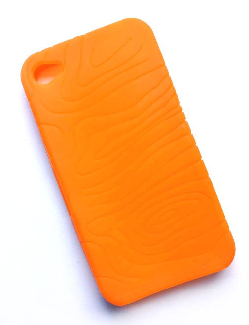 Billede af Silikonecover til iPhone 4 med camouflagemønster, orange