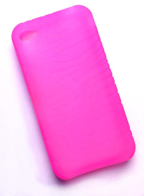 Billede af Silikonecover til iPhone 4 med camouflagemønster, neonpink