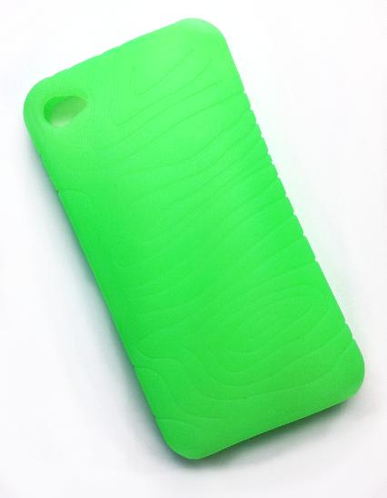 Billede af Silikonecover til iPhone 4 med camouflagemønster, forårsgrøn