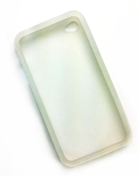 Billede af Silikonecover til iPhone 4, gennemsigtig hvid