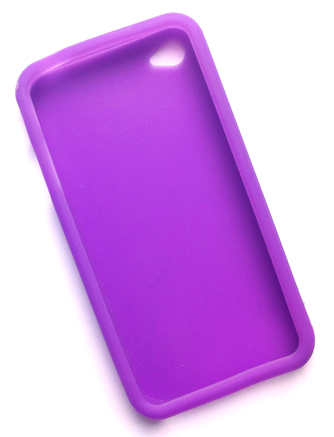 Billede af Silikonecover til iPhone 4, gennemsigtig lilla