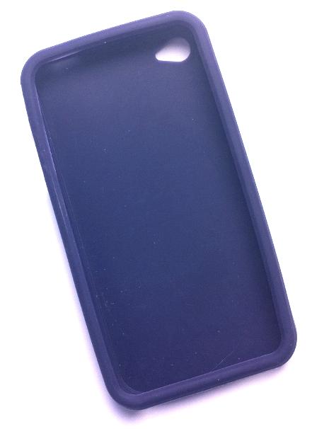 Billede af Silikonecover til iPhone 4, marineblå