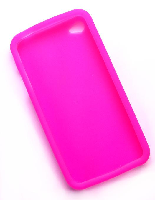 Billede af Silikonecover til iPhone 4, neonpink