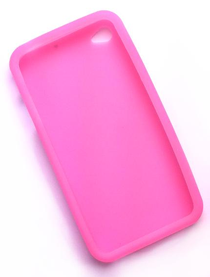 Billede af Silikonecover til iPhone 4, gennemsigtig pink