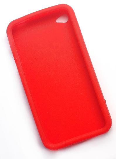 Billede af Silikonecover til iPhone 4, postkasserød