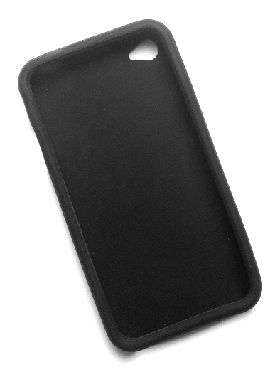 iPhone 4 silikonecover sort