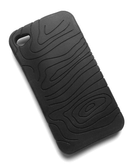 Billede af Silikonecover til iPhone 4 med camouflagemønster, sort