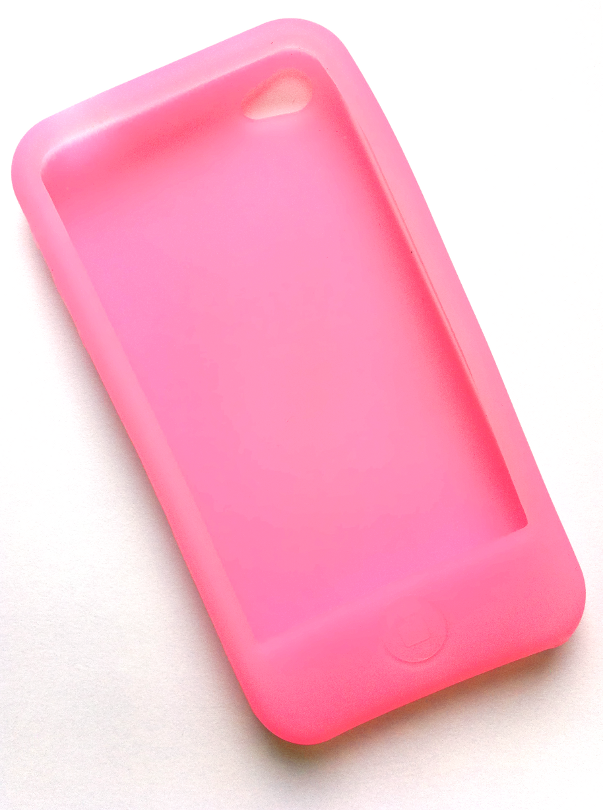 Silikonecover til iPhone 4, pink
