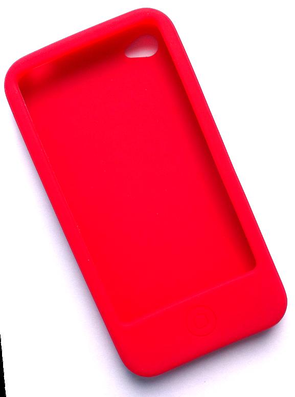 Billede af Silikonecover til iPhone 4, rød