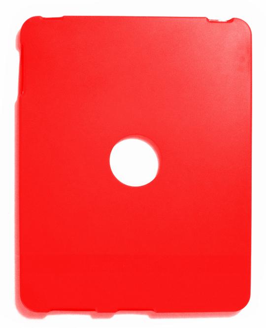 Billede af iPad cover i rød silikone