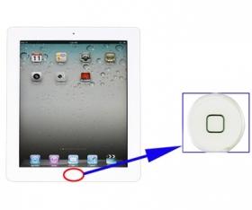 iPad 2 / 3 / 4 home-knap, hvid